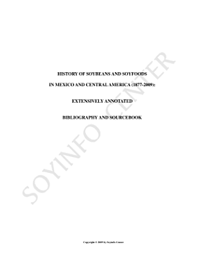 History of Soybeans and Soyfoods in Mexico and Central America  1877 2009   Extensively Annotated Bibliography and Sourcebook PDF