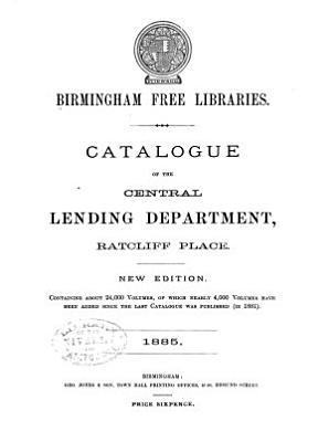 Catalogue of the Central Lending Department  Ratcliff Place PDF