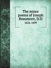 The minor poems of Joseph Beaumont, D.D.