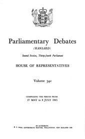 Parliamentary Debates: House of Representatives, Volume 342