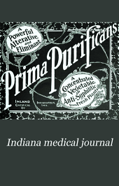 Indiana Medical Journal: A Monthly Journal of Medicine and Surgery, Volume 26, Issue 1