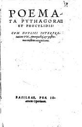 Poemata Pythagorae et Phocylidis graeca