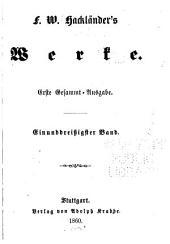 F.W. Hackländer's Werke: Bände 31-32