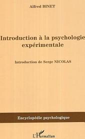 Introduction à la psychologie expérimentale