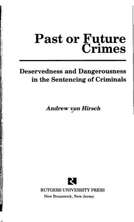 Past Or Future Crimes PDF
