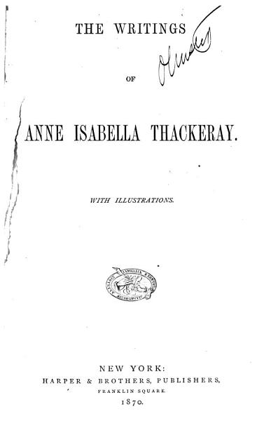 Download The Writings of Anne Isabella Thackeray Book