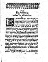 Harmonia Michaeae V, 1. & Matth. II, 6