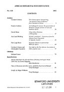 African Research   Documentation PDF