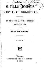 M. Tullii Ciceronis Epistolae seletae
