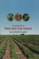 Encyclopedia of Plant and Crop Science  Print  PDF