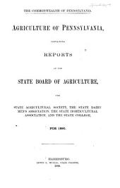 Agriculture of Pennsylvania: Volume 14