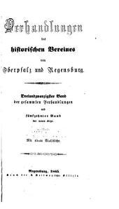 Verhandlungen des Historischen Verein für Oberpfalz und Regensburg: Bände 23-24