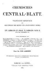 Chemisches Zentralblatt: Vollständiges Repertorium für alle Zweige der Reinen und angewandten Chemie, Band 2;Band 65