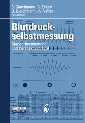 Blutdruckselbstmessung: Standortbestimmung und Perspektiven 1994