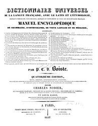 Dictionnaire universel de la langue fran  aise avec le latin et l   tymologie PDF