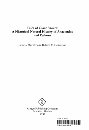 Tales of Giant Snakes