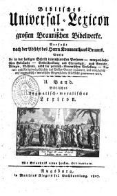 Biblisches Universal-Lexicon zum grossen Braunischen Bibelwerke
