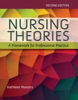 Nursing Theories  A Framework for Professional Practice PDF