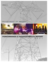 U S  Department of Energy Performance and Accountability Report  FY 2001 PDF