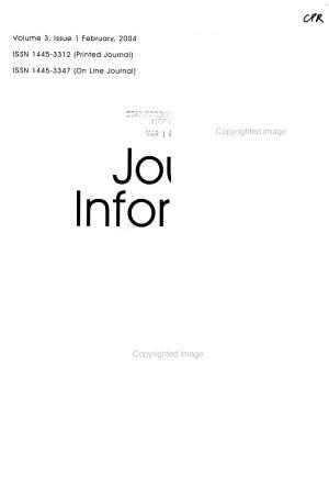Journal of Information Warfare PDF