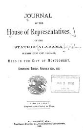 Journal of the House of Representatives, State of Alabama