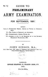 Guide to preliminary army examination