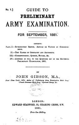 Guide to preliminary army examination PDF
