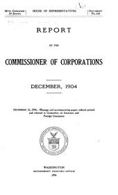 Annual report of the commissioner of corporations