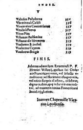 Athenae orthodoxorum sodalitii Franciscani, qui vel selecta eruditione vel floridiore eloquentia, vel editis scriptis ... operam navarunt