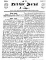 Dresdner Journal  Herold f  r s  chsische und deutsche Interessen  Redigirt von Karl Biedermann