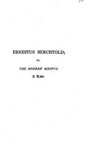 Ernestus Berchtold Book