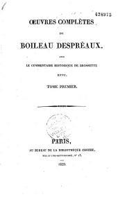 Oeuvres complètes, avec le Commentaire historique de Brossette