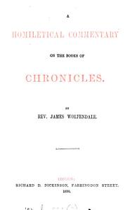 A Homiletical Commentary on the Books of Chronicles PDF