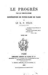 Le progrès par le christianisme: conférences de Notre-Dame de Paris, Volume5
