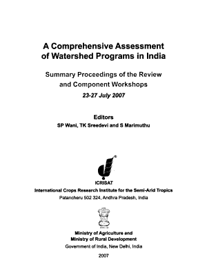 A Comprehensive Assessment of Watershed Programs in India PDF