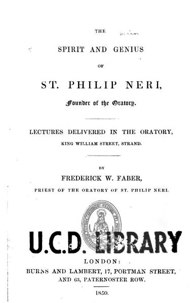 Download The Spirit and Genius of St  Philip Neri Book
