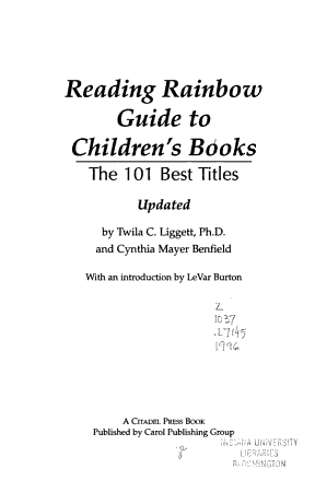 Reading Rainbow Guide to Children s Books PDF
