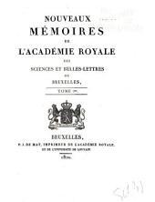 Mémoires de l'Académie royale des sciences, des lettres et des beaux-arts de Belgique: Volume1