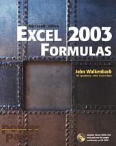 Excel 2003 Formulas