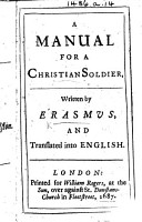 A Manual for a Christian Soldier  The Weapon of a Christian Soldier      Translated into English PDF