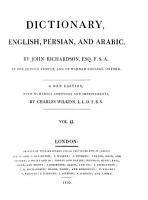 Dictionary  English  Persian  and Arabic PDF