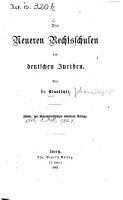 Die neueren Rechtsschulen der deutschen Juristen PDF