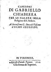 Canzoni ... per le galere della religione di S. Stefano