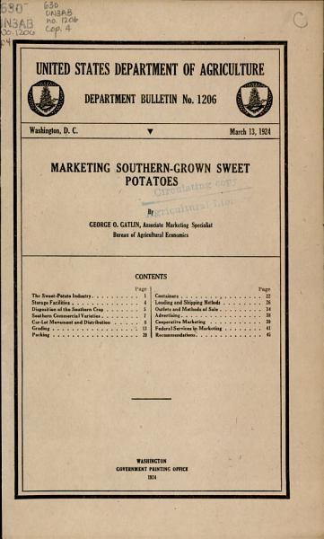 Download Marketing Southern grown Sweet Potatoes Book