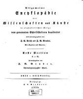 Allgemeine Encyclopädie der Wissenschaften und Künste in alphabetischer Folge: Erster Section: A-G, Band 28