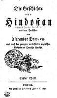 Die Geschichte von Hindostan PDF