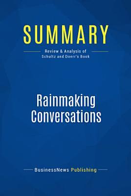 Summary  Rainmaking Conversations