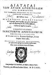 CONSTITUTIONES SANCTORUM APOSTOLORUM ...