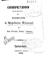 Compendio de los principios o elementos de legislación universal