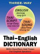 Three-way Thai-English, English-Thai Pocket Dictionary